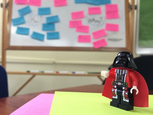 The last workshop of the year was supported by Darth Santa himself!
